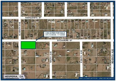 Hesperia Residential Lots & Land For Sale: Sycamore Street
