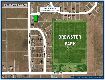 Apple Valley CA Residential Lots & Land For Sale: $12,000