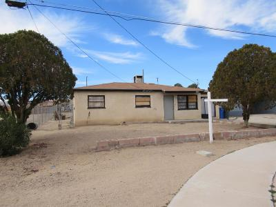 Barstow Single Family Home For Sale: 1458 Mesa Drive