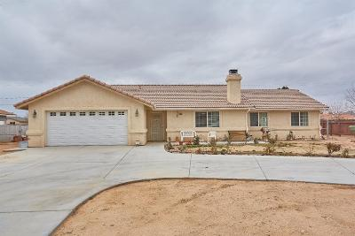 Apple Valley Single Family Home For Sale: 14590 Central Road