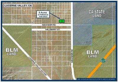 Lucerne Valley Residential Lots & Land For Sale: Meander Road