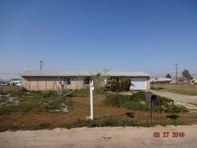 Apple Valley CA Single Family Home For Sale: $161,000