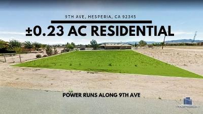 Hesperia CA Residential Lots & Land For Sale: $47,000