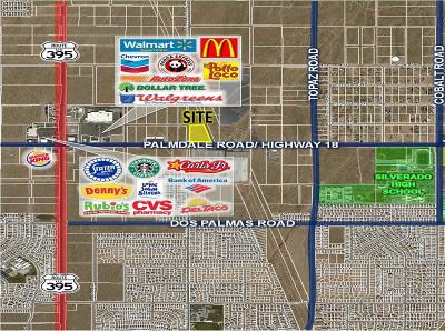 Victorville CA Commercial Lots & Land For Sale: $650,000