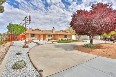 Apple Valley Single Family Home For Sale: 22298 Broken Lance Road