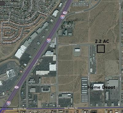 Victorville CA Commercial Lots & Land For Sale: $180,000