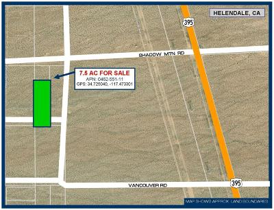 Helendale Residential Lots & Land For Sale: Near Shadow Moutain Road