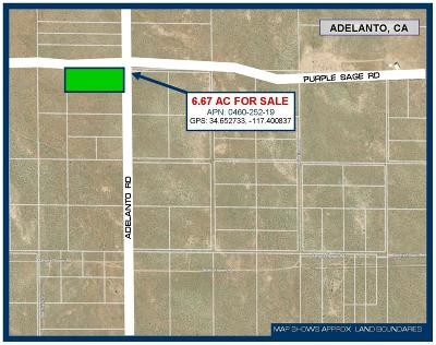 Adelanto Residential Lots & Land For Sale: Adelanto Road
