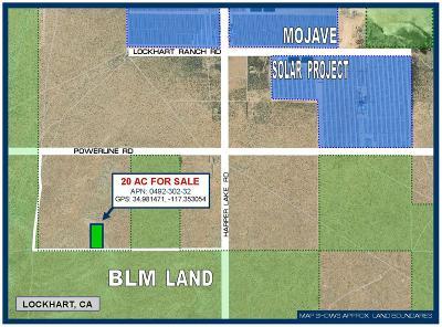 San Bernardino County Residential Lots & Land For Sale: Harper Lake Road