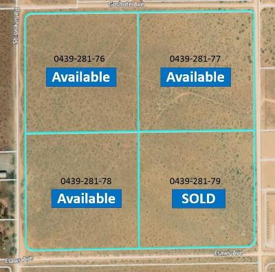 Apple Valley CA Residential Lots & Land For Sale: $50,000