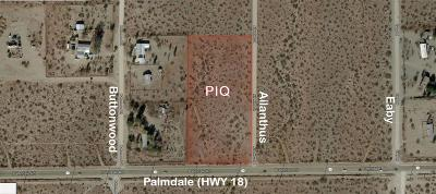Phelan CA Commercial Lots & Land For Sale: $129,900