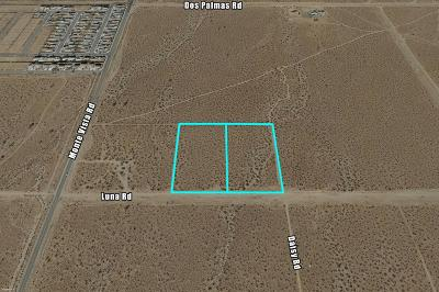 Victorville CA Residential Lots & Land For Sale: $220,000