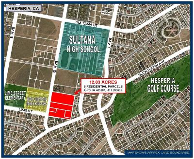Hesperia CA Residential Lots & Land For Sale: $1,400,000