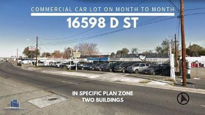 Victorville Commercial For Sale: 16598 S D Street