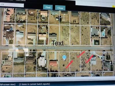 Victorville CA Residential Lots & Land For Sale: $30,000