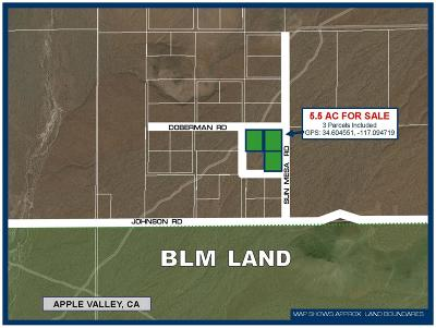 Apple Valley CA Residential Lots & Land For Sale: $14,300