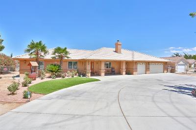 Hesperia Single Family Home For Sale: 14828 Ranchero Road