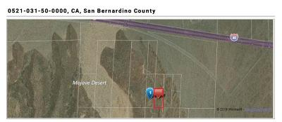 Newberry Springs CA Residential Lots & Land For Sale: $6,500