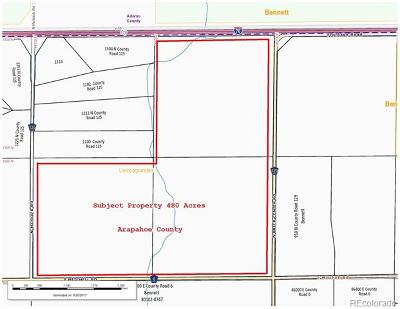 Arapahoe County Residential Lots & Land Active: I-70 Frontage