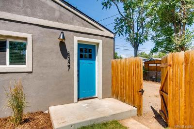 Denver Single Family Home Under Contract: 4337 Navajo Street