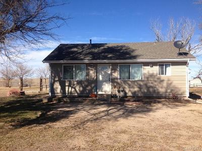 Arapahoe County Single Family Home Active: 67505 East County Road 38