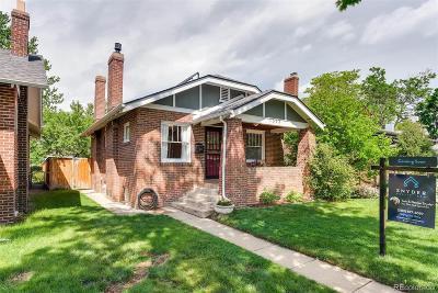 Denver University, Du, Du Harvard Park, Du Platt Park, Du Platte Park, Platt Park, Platt Park ~ Harvard Gulch Single Family Home Active: 1573 South Sherman Street