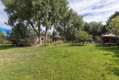 Boulder Single Family Home Under Contract: 7832 Scenic Drive