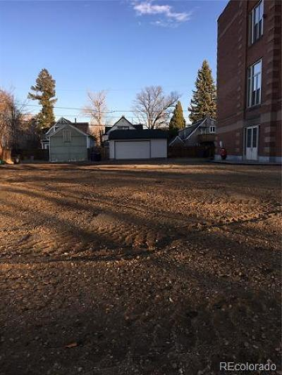 Denver Residential Lots & Land Active: 1750 South Grant Street