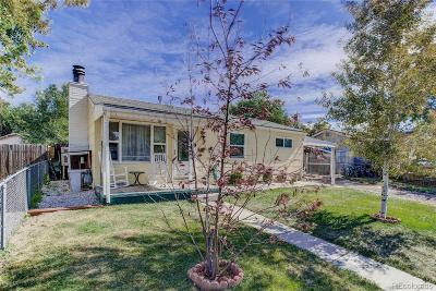 Commerce City Single Family Home Under Contract: 7780 Newport Street