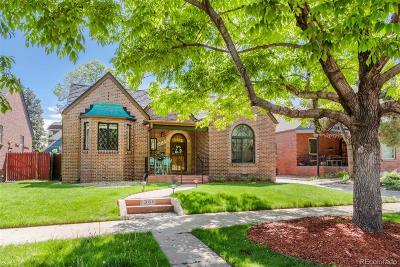 Denver Single Family Home Active: 1386 Tennyson Street