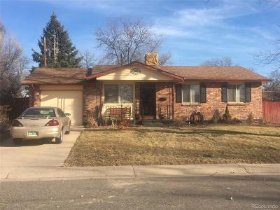 Arapahoe County Single Family Home Active: 822 South Worchester Street