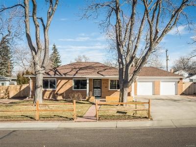 Wheat Ridge Single Family Home Under Contract: 4000 Reed Street