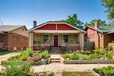 Denver Single Family Home Active: 3310 West 14th Avenue