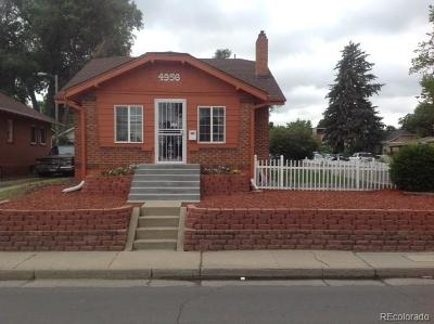 Denver Single Family Home Active: 4956 West 38th Avenue