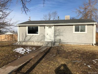 Commerce City Single Family Home Under Contract: 7801 Larkwood Street