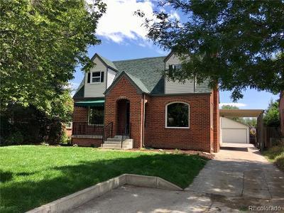 Denver Single Family Home Active: 2580 Kearney Street