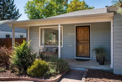 Denver Single Family Home Active: 1533 South Jackson Street