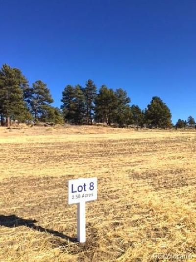 Parker Residential Lots & Land Active: 10245 Inspiration Drive