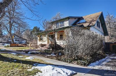 Boulder Single Family Home Under Contract: 1005 Lincoln Place