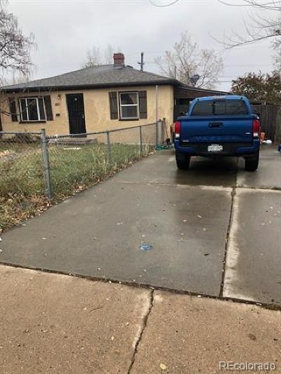 Denver Single Family Home Active: 3971 West Kentucky Avenue