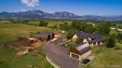 Boulder Single Family Home Active: 6600 South Boulder Road