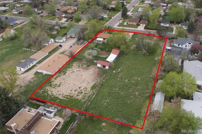 Wheat Ridge Residential Lots & Land Active: 2850 & 2880 Teller Street