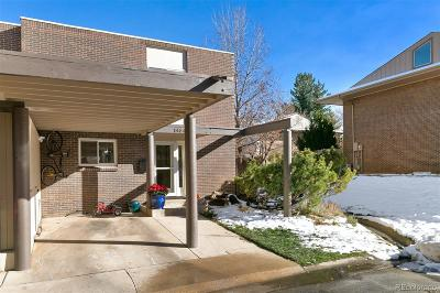 Boulder Condo/Townhouse Under Contract: 1484 Greenbriar Boulevard
