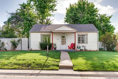 Denver Single Family Home Active: 575 South Shoshone Street
