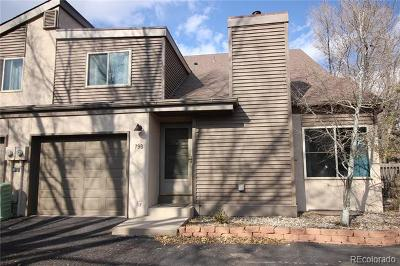 Manitou Springs Condo/Townhouse Active: 79 Crystal Park Road #B