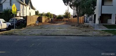 Denver Residential Lots & Land Active: 1629 Irving Street