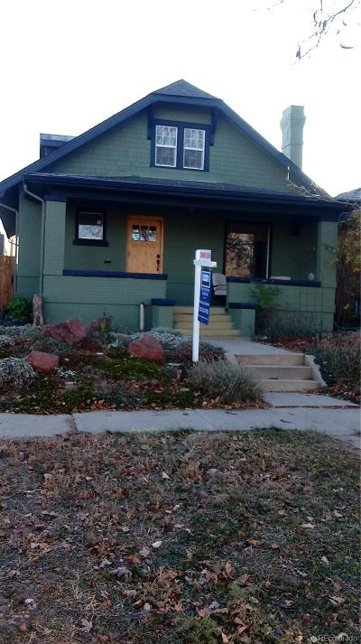 Denver Single Family Home Under Contract: 3226 North Gaylord Street