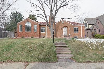 Denver Single Family Home Under Contract: 1731 Leyden Street