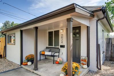 Denver Single Family Home Under Contract: 4024 West 49th Avenue