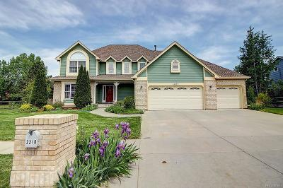 Longmont Single Family Home Active: 2210 Summitview Drive